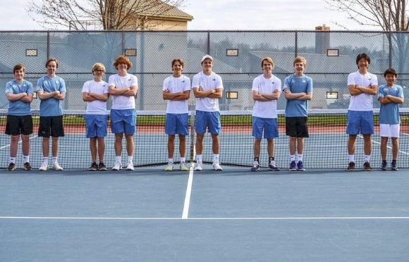 Tennis-playing sibling duos from LHS work together as a team.