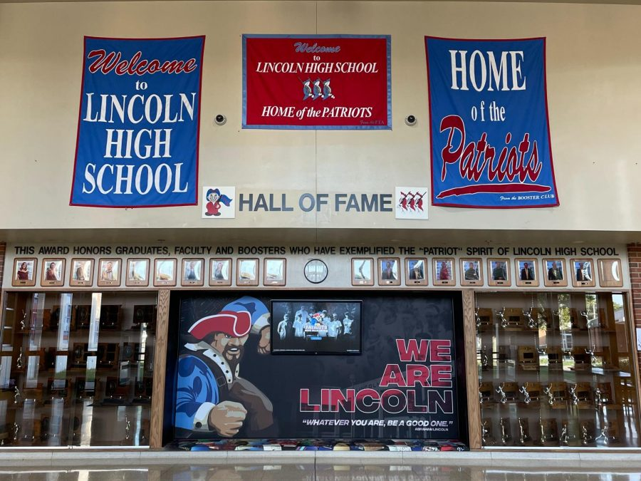One of the new additions to LHS is the virtual trophy case located near the trophies in the foyer.