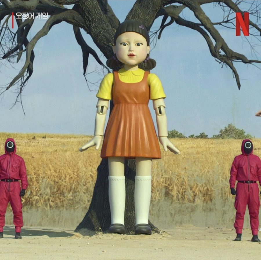 Eerie oversized doll in the first episode, referenced in Little Known fact No. 1.