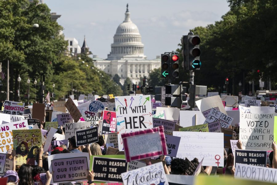 Women's March protestors take to the streets of Washington D.C to stand up for reproductive rights.
